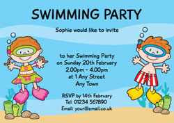 snorkeling children invitations