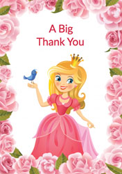 princess thank you cards