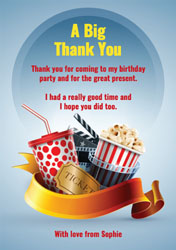 movie themed thank you cards