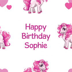 pink pony wrapping paper
