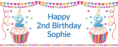 2nd birthday party banner
