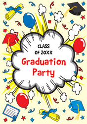leavers party invitations