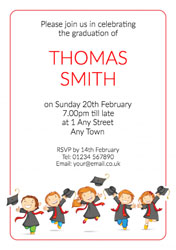 leaping graduates party invitations