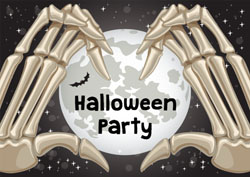 skeleton hands party invitations