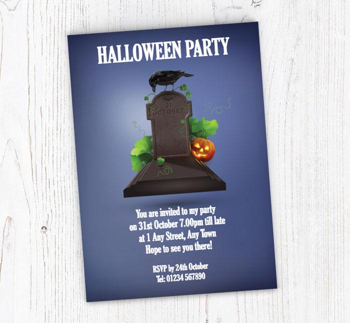Gravestone Party Invitations