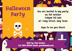 halloween icons party invitations
