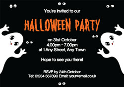 funny ghosts party invitations