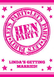 hen party time invitations