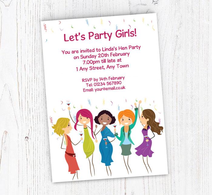 Bachelorette Party Invitations