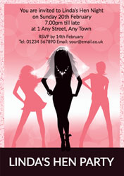 bride to be hen party invitations