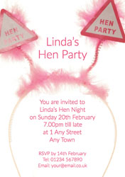 pink bopper hen party invitations