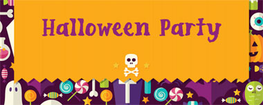 halloween icons party banner