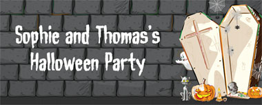 open coffin party banner