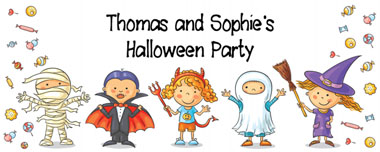 halloween children party banner