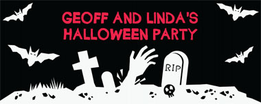 graveyard party banner