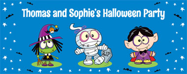 cartoon halloween party banner