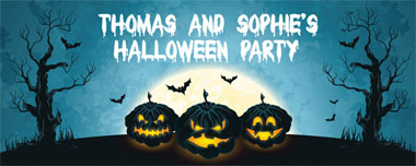 spooky pumpkins party banner