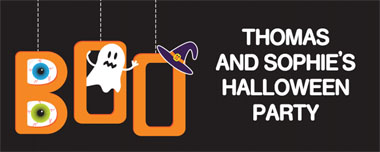 just say boo party banner
