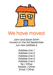orange house moving cards