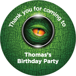 dinosaur eye party stickers