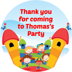 bouncy castle party stickers
