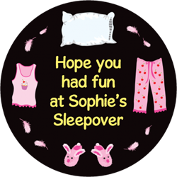 sleepover party stickers