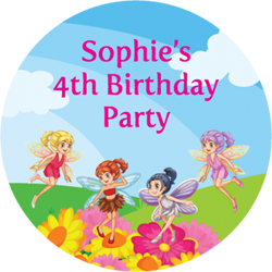 fairy party stickers