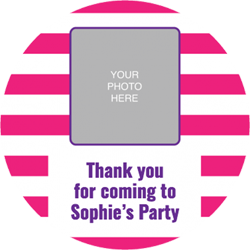 pink striped photo upload stickers