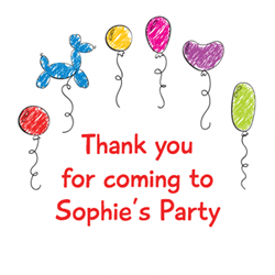 party balloons party stickers