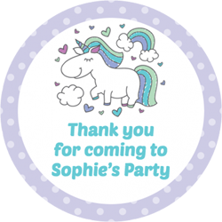 unicorn rainbow party stickers