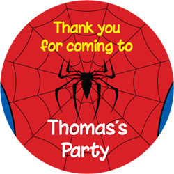 spiderman party stickers