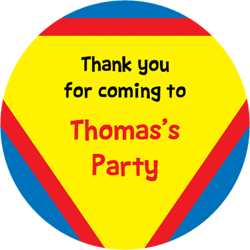 superman party stickers
