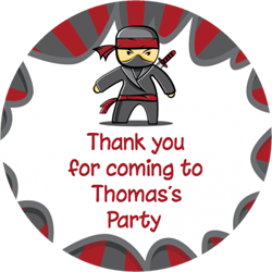 ninja party stickers
