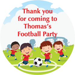 childrens football party stickers