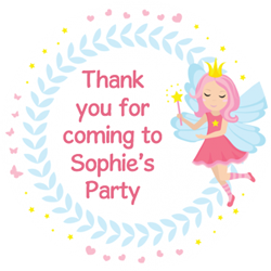 fairy dreams party stickers