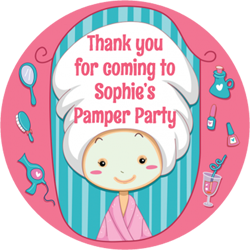 pamper party stickers