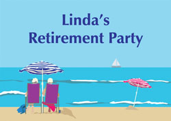 by the sea retirement invitations