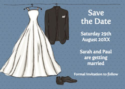 wardrobe save the date cards