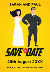 superhero save the date cards