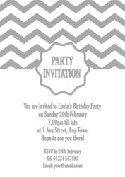 silver foil seal party invitations