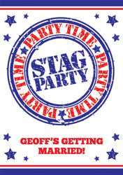 stag party time invitations
