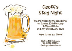 pint of beer party invitations