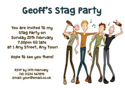 four stags a singing invitations