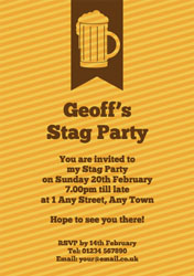 beer glass stripes party invitations