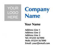 company logo upload business cards