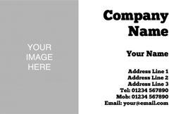 photo upload business cards