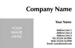 picture upload business cards