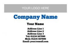horizontal logo upload business cards