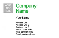 standard logo upload business cards