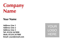 simple logo upload business cards